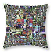 Colorful Chaotic Composite Throw Pillow