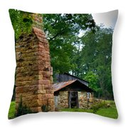Colorful Chimney Throw Pillow