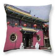Colorful Chinatown_2 Throw Pillow