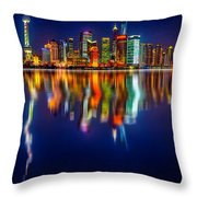 Colorful City Reflection 17 06 2015 Throw Pillow