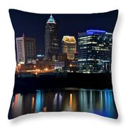 Colorful Cleveland Throw Pillow