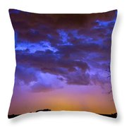 Colorful Cloud To Cloud Lightning Throw Pillow