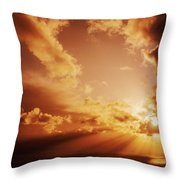 Colorful Cloudburst Throw Pillow