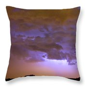 Colorful Colorado Cloud To Cloud Lightning Thunderstorm 27 Throw Pillow by James BO  Insogna