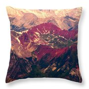 Colorful Colorado Rocky Mountains Throw Pillow