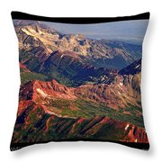 Colorful Colorado Rocky Mountains Planet Art Poster  Throw Pillow