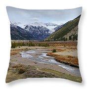 Colorful Colorado Valley Throw Pillow