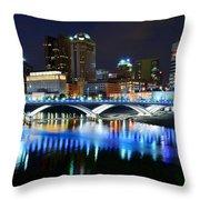 Colorful Columbus Throw Pillow
