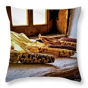 Colorful Corn Throw Pillow