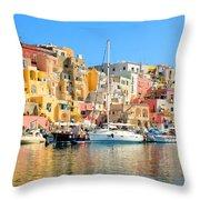 Colorful Corricella Throw Pillow