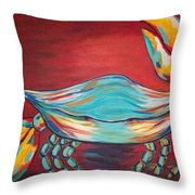 Colorful Crab Throw Pillow