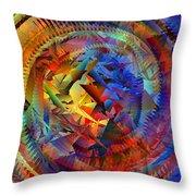 Colorful Crash 10 Throw Pillow