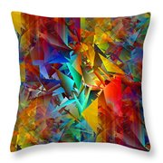 Colorful Crash 11 Throw Pillow