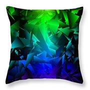 Colorful Crash 6 Throw Pillow