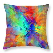 Colorful Crash 9 Throw Pillow