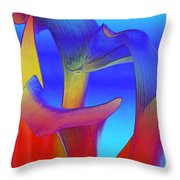 Colorful Crowd Throw Pillow by Michelle Wiarda