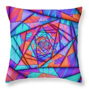 Colorful Cuts Fractal Throw Pillow