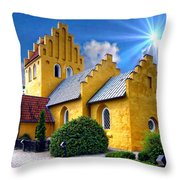 Colorful Danish Church Throw Pillow