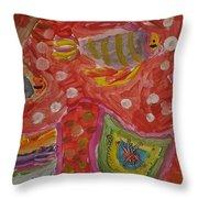 Colorful Deep Sea Throw Pillow