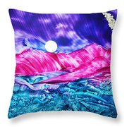Colorful Desert Throw Pillow