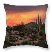 Colorful Desert Skies At Sunset  Throw Pillow