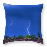 Colorful Desert Storm Throw Pillow