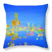 Colorful Detroit Skyline Throw Pillow by Danielle Allard
