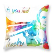 Colorful Dirty Harry Throw Pillow