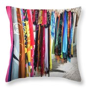 Colorful Dominican Garments Throw Pillow