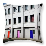Colorful Doors- By Linda Woods Throw Pillow