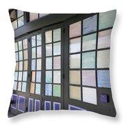 Colorful Doors Throw Pillow