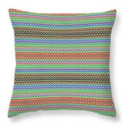 Colorful Dots N Mini Circles In Line Patterns With Background Textures Fineartamerica.com Licensing  Throw Pillow
