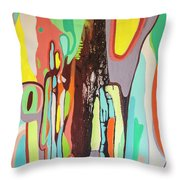 Colorful Earth Day Throw Pillow