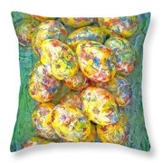 Colorful Eggs Throw Pillow
