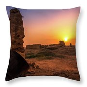 Colorful Evening In The Ruined World.. Throw Pillow