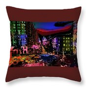 Colorful Evening Shadows Throw Pillow