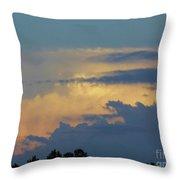 Colorful Evening Sky Throw Pillow