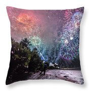 Colorful Explosions Throw Pillow