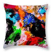 Colorful Expression 13 Throw Pillow