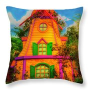 Colorful Fantasy Windmill Throw Pillow