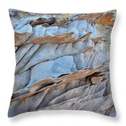 Colorful Fins Of Sandstone In Valley Of Fire Throw Pillow