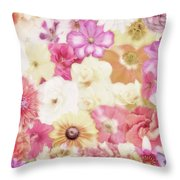 Colorful Floral Background Throw Pillow