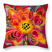 Colorful Flower Art - Summer Love By Sharon Cummings Throw Pillow