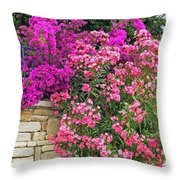 Colorful Flowering Shrubs Throw Pillow