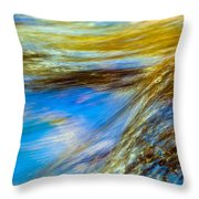 Colorful Flowing Water Throw Pillow