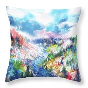 Colorful Forest 5 Throw Pillow