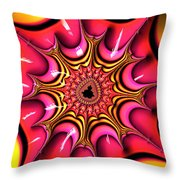 Colorful Fractal Art With Candy-colors Throw Pillow