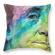 Colorful Franklin Throw Pillow