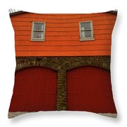 Colorful Garage Throw Pillow