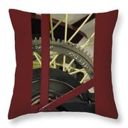 Colorful Gears Throw Pillow
